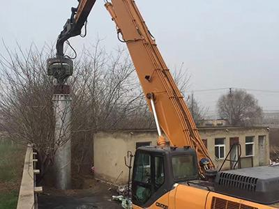 CASE 470 Excavator Mounted Vibratory Hammer for Steel Piles