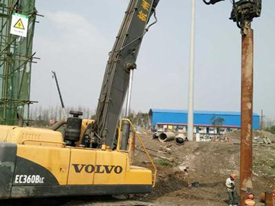 Volvo 360 Track Excavator Mounted Pile Driving Hammer for Deep Foundation