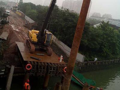 Volvo 480 Excavator Bridge Construction Piling Equipment for Steel Pipe Piling